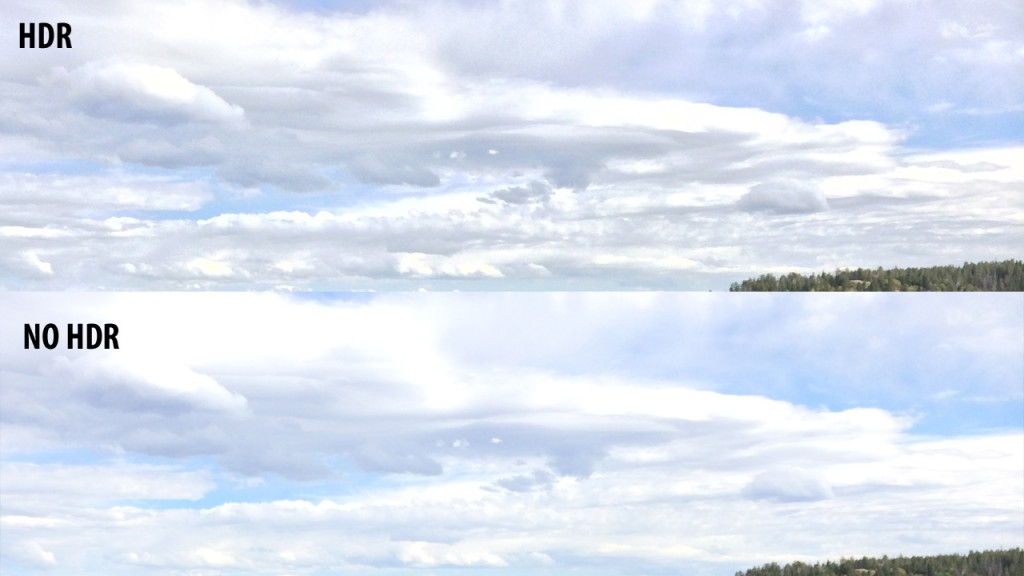 HDR Clouds VS non HDR Clouds
